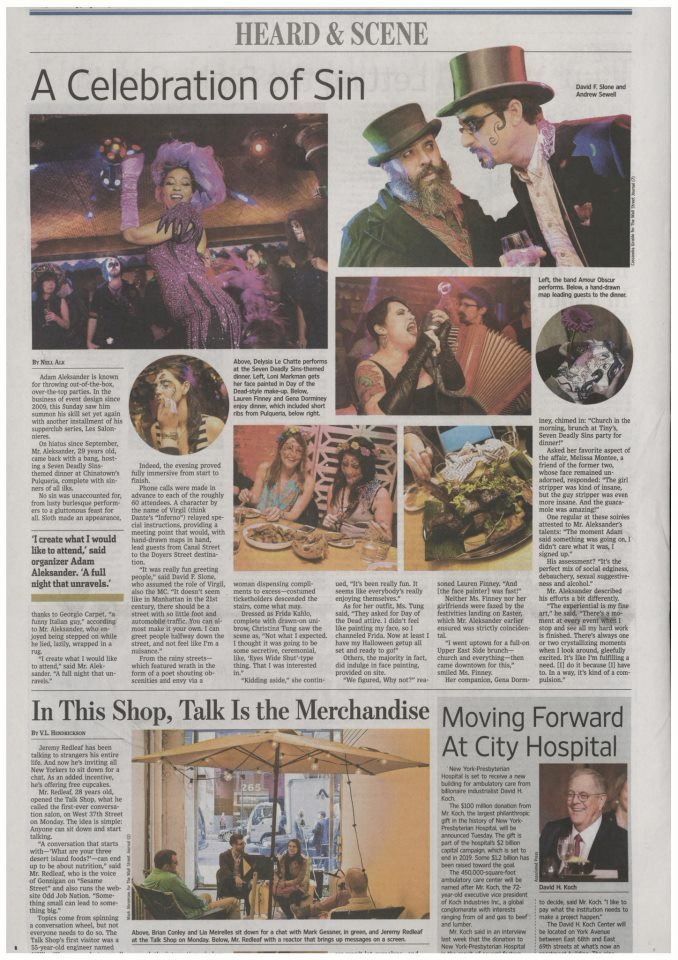 Delysia in The Wall Street Journal